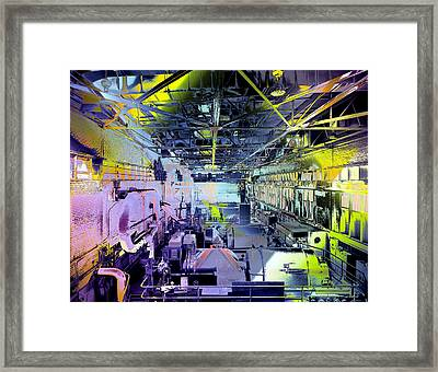 Grunge Central Power Station Framed Print by Robert G Kernodle