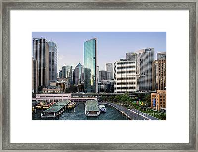 Central Quay Framed Print by Jim Chamberlain