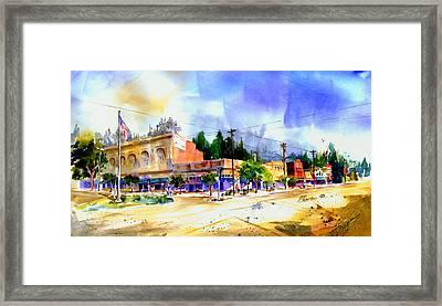Central Square Auburn Framed Print
