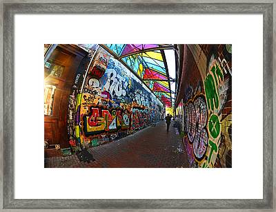 Central Square Graffiti Cambridge Ma Framed Print by Toby McGuire