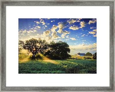 Central Texas Sunrise Framed Print