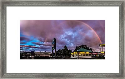 Centralia Rainbow Framed Print by Tony Porter Photography