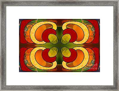 Centrally Located Abstract Art By Omashte Framed Print by Omaste Witkowski