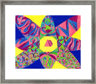 Framed Print featuring the drawing Centrifugal by Kim Sy Ok