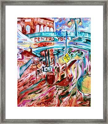 Centro Ybor Framed Print by Alfredo Dane Llana