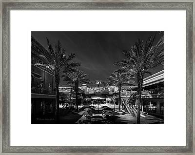 Framed Print featuring the photograph Centro Ybor Bw by Marvin Spates
