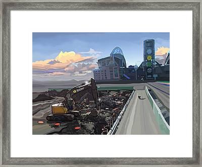 Century Link Framed Print by Brad Burns