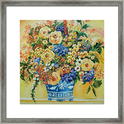 Ceramic Blue Framed Print
