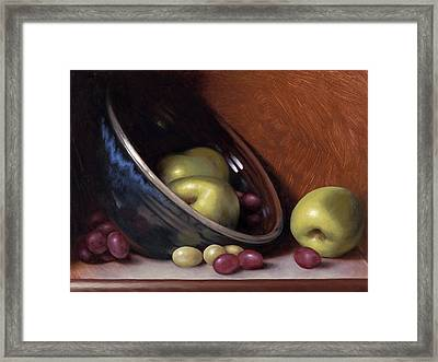 Ceramic Bowl With Apples Framed Print by Timothy Jones