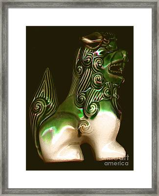 Ceramic Chinese Temple Dog Framed Print