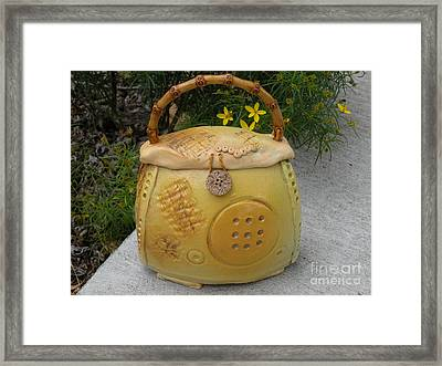 Ceramic Container With Lid Framed Print by Christine Belt