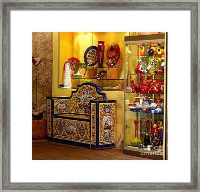 Ceramic Crafts In A Shop Framed Print