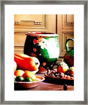 Ceramic Jar Framed Print