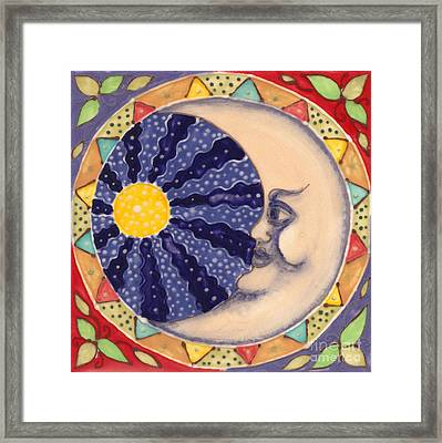 Ceramic Moon Framed Print