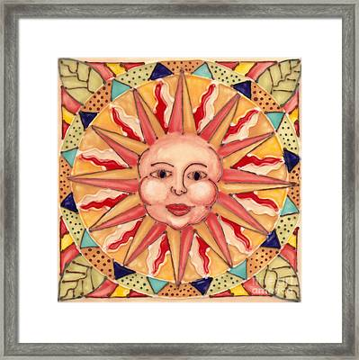 Ceramic Sun Framed Print