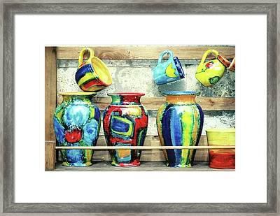 Ceramics, Tuscany Framed Print
