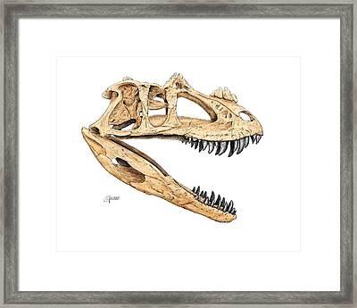 Ceratosaur Skull Framed Print
