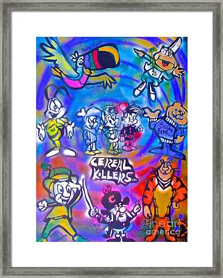 Cereal Killers Framed Print by Tony B Conscious
