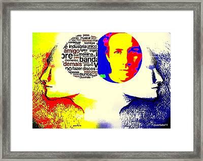 Cerebral Hemispheres Framed Print by Paulo Zerbato