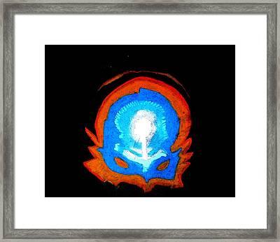 Cerebral Mask Framed Print