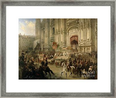 Ceremonial Reception Framed Print by Adolf Jossifowitsch Charlemagne