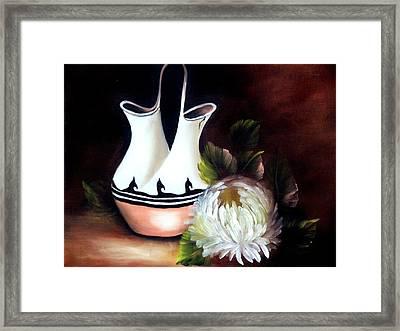 Ceremonial Vase Framed Print by Joni McPherson