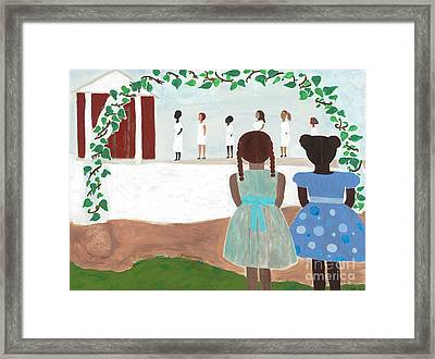 Ceremony In Sisterhood Framed Print