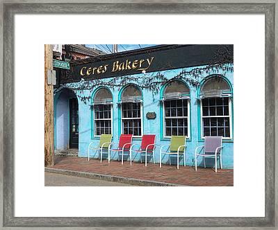 Ceres Bakery In Portsmouth Nh Framed Print by Nancy De Flon