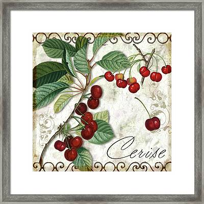 Cerise Framed Print by Mindy Sommers