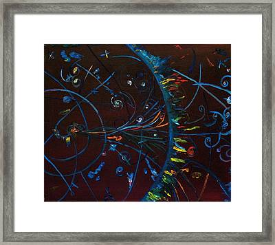 Cern Atomic Collision  Physics And Colliding Particles Framed Print by Gregory Allen Page