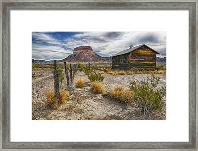 Framed Print featuring the tapestry - textile Cerro Castellan - Big Bend - Color by Kathy Adams Clark