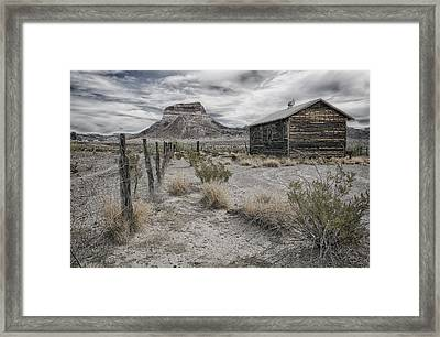 Framed Print featuring the tapestry - textile Cerro Castellan - Big Bend  by Kathy Adams Clark