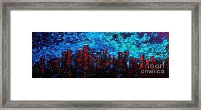 Cerulean Angel Framed Print by Chris Haugen