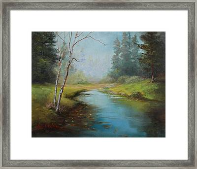 Cerulean Blue Stream Framed Print