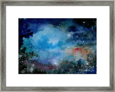 Cerulean Space Clouds Framed Print by Janet Hinshaw
