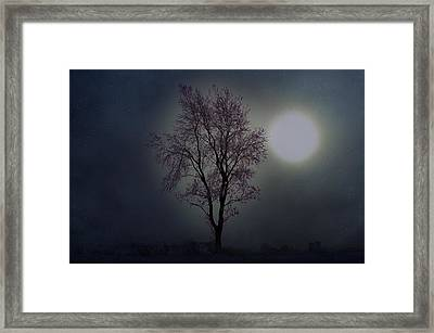 Cerulean Sunrise On Ice Framed Print by The Stone Age