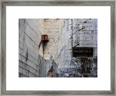 Cervaiole Quarry - Apuan Alps, Tuscany Italy Framed Print