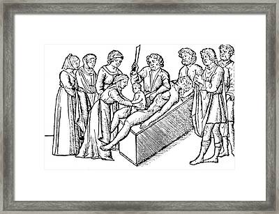 Cesarean Section 16th Century Framed Print by Science Source
