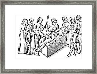 Cesarean Section 16th Century Framed Print