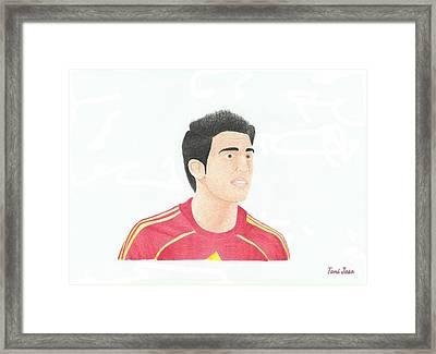 Cesc Fabregas Framed Print by Toni Jaso