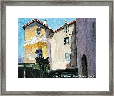 Cesi Apartments Italy Framed Print by Tom Herrin