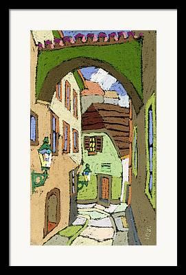 Cesky Krumlov Framed Prints