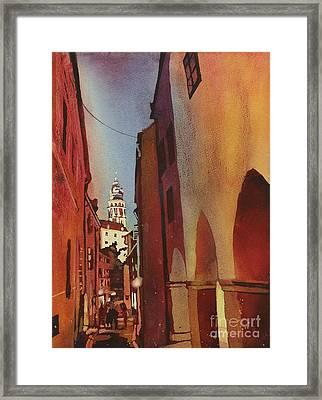 Cesky Krumlov Walk Home Framed Print by Ryan Fox