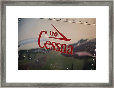 Cessna 170 Logo Framed Print by Kevin Kanarski