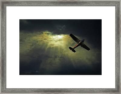 Cessna 172 Airplane Framed Print by photograph by Anastasiya Fursova