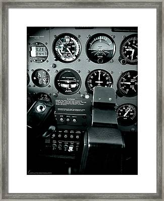 Cessna 172sp Cockpit Framed Print