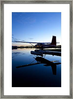 Cessna 180 And Its Reflection Framed Print
