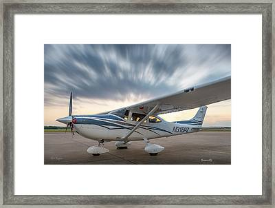 Cessna 182 On The Ramp Framed Print