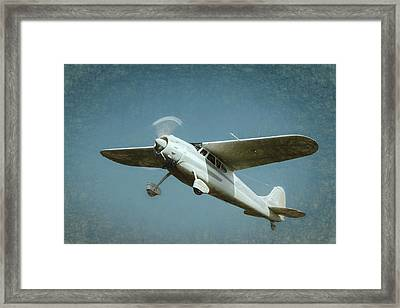 Framed Print featuring the photograph Cessna 195 by James Barber