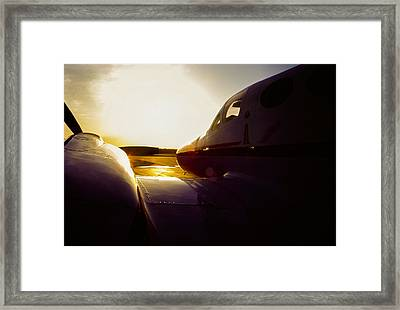 Cessna 421c Golden Eagle IIi Silhouette Framed Print by Greg Reed